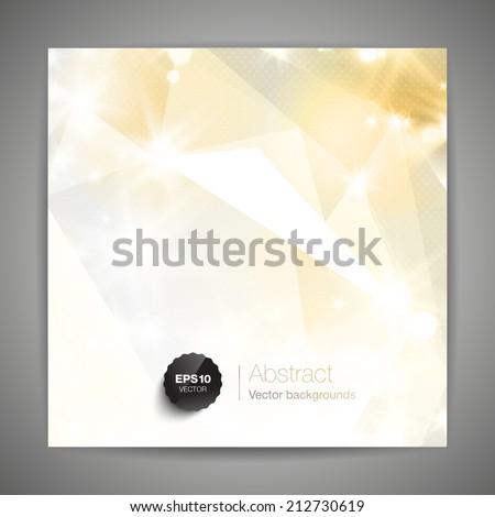 Abstract 3D geometric gold background.