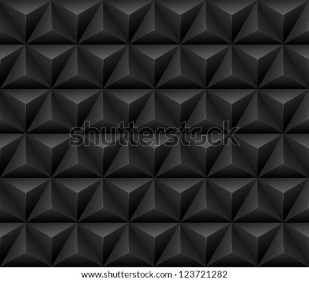 Abstract 3d geometric seamless pattern. vector illustration