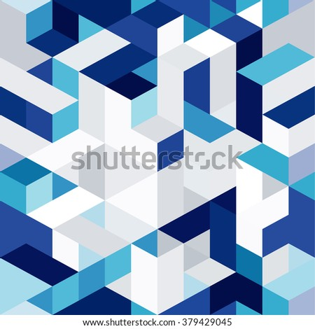 abstract 3d geometrical