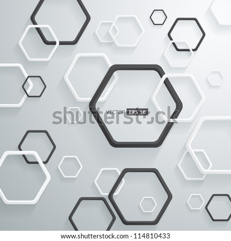 Abstract 3D Geometrical Round Corners Design