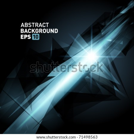 Abstract 3d geometricbroken glass lines modern grunge vector background. Eps 10.