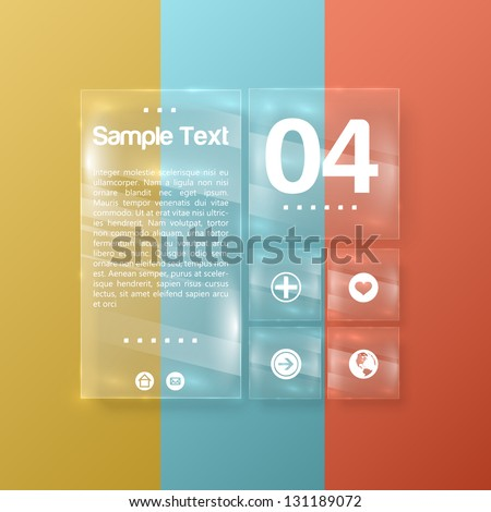 Abstract 3D glass numbered template