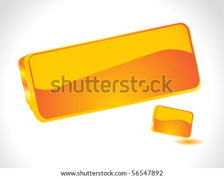 abstract 3d glossy orange icon