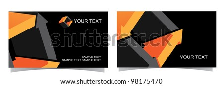 Abstract 3D Glossy Symbol Icon Business Card Collection Front and back of each version, with full icon on front. EPS 8 vector, grouped for easy editing, with no open shapes or paths. - stock vector