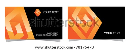 Abstract 3D Glossy Symbol Icon Business Card Collection Front and back of each version, with full icon on front. EPS 8 vector, grouped for easy editing, with no open shapes or paths.
