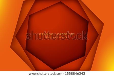 abstract 3d hexagon papercut