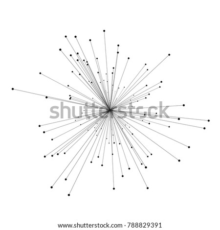Abstract 3d illustration of molecule model isolated on white background. Science or medical pattern with molecule, atom. Abstract geometric template for brochure, flyer, report , banner, infographics