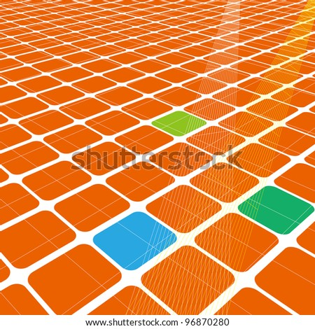 Abstract 3d infinite grid  for business science or technology background