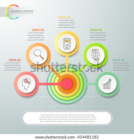 abstract 3d infographic 5...