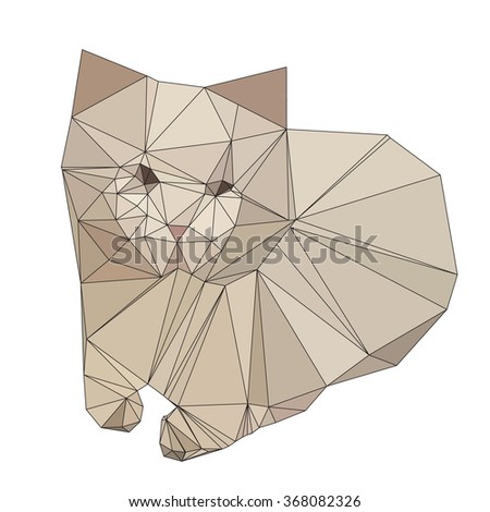 abstract 3d low polygon design