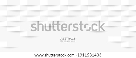 Abstract 3d modern square banner background. White and grey geometric pattern texture. vector art illustration  Stock photo ©