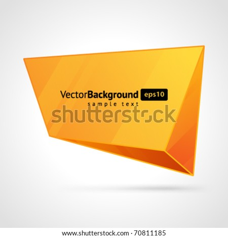 Abstract 3d origami speech bubble vector background