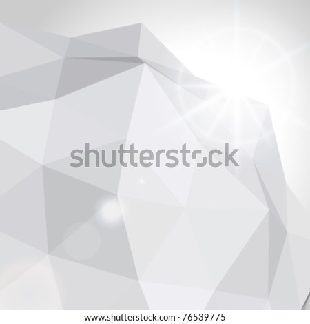 Abstract 3d origami wire vector background. Eps 10.