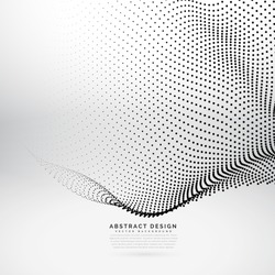abstract 3d particle wave mesh in cyber technology style