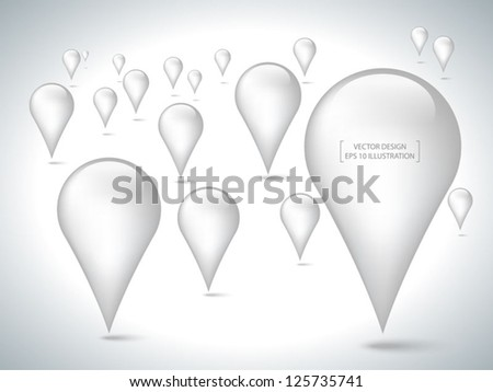 abstract 3d pointer on white