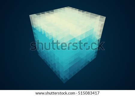 abstract 3d rendering of low