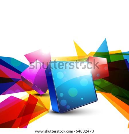 abstract 3d shape design art