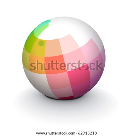abstract 3d sphere with glossy sphere design.