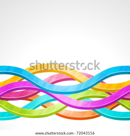Abstract 3d technology colorful waves lines vector background. Eps 10