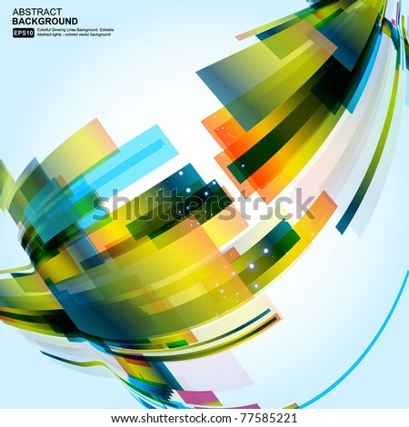 Abstract 3d technology lines with light vector backgound