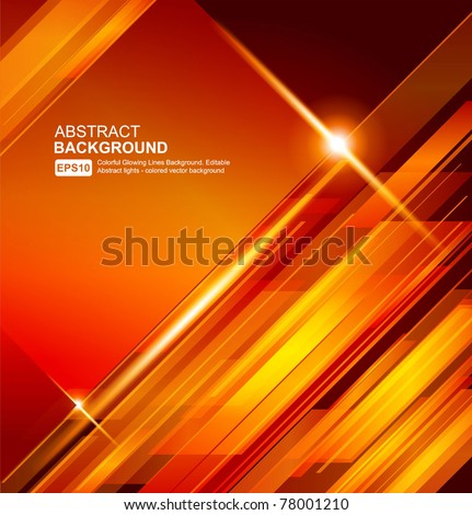 Abstract 3d technology lines with light vector backgound. Eps 10.