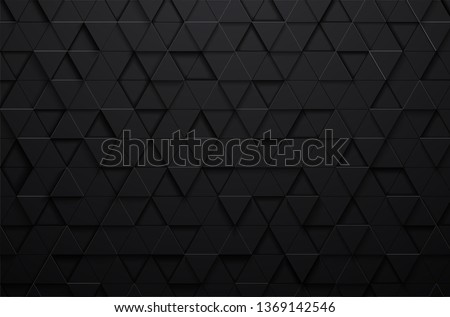 abstract 3d texture vector black triangle pattern background,grunge surface-illustration wallpaper.