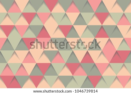 abstract 3d triangle background