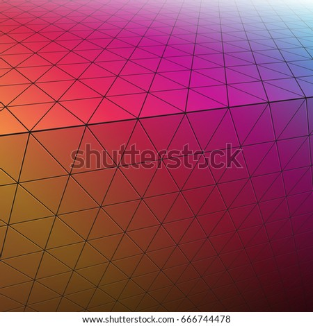abstract 3d triangles pattern