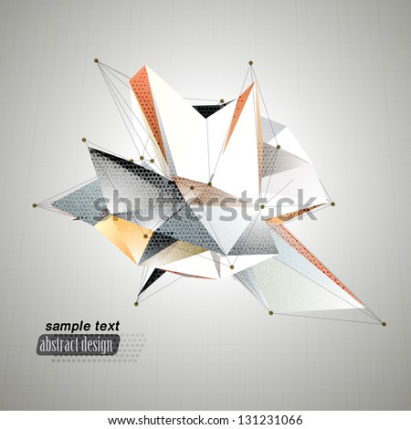 abstract 3d triangles vector