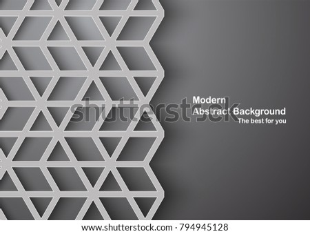 Abstract 3D vector graphic with copy space.