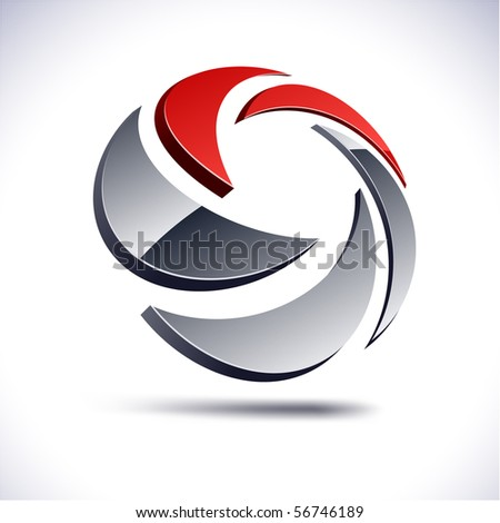 Abstract 3d vector icon such logos. - stock vector