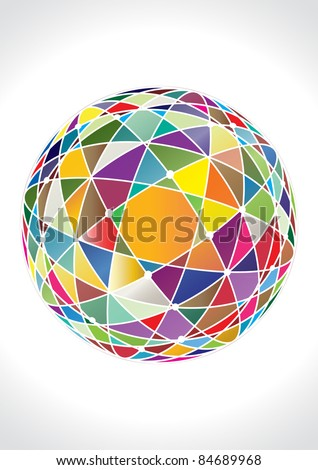 abstract 3d vector sphere