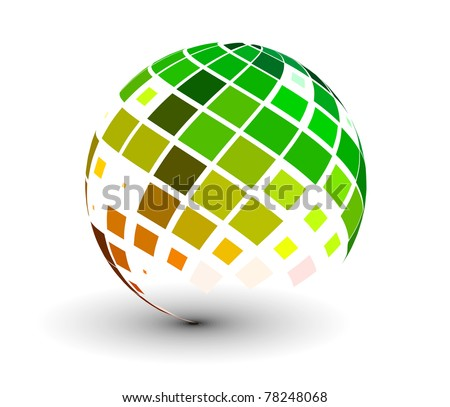 abstract 3d vector sphere with
