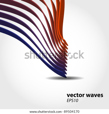 Abstract 3D wave background composition - vector illustration