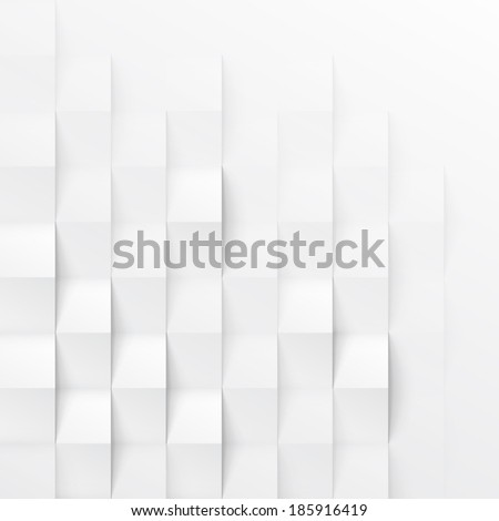 stock vector abstract d white geometric background white seamless texture with shadow simple clean white 185916419 - Каталог — Фотообои «3D Текстуры»