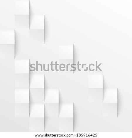 abstract 3d white geometric