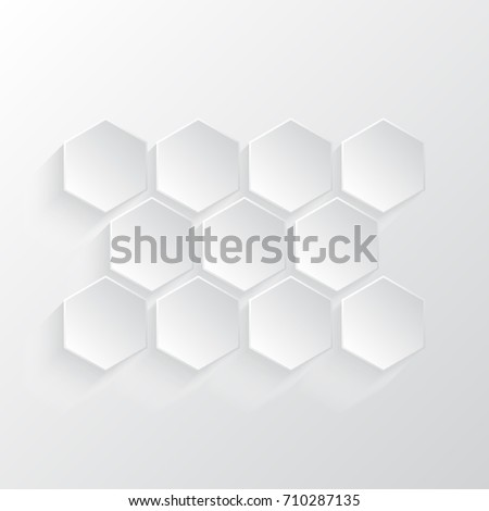 Abstract 3D white vector honeycomb design