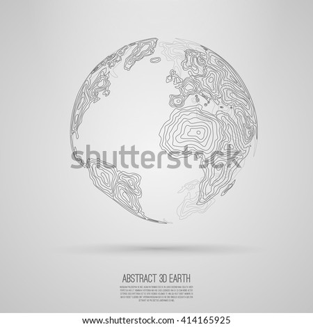 abstract 3d world map consist