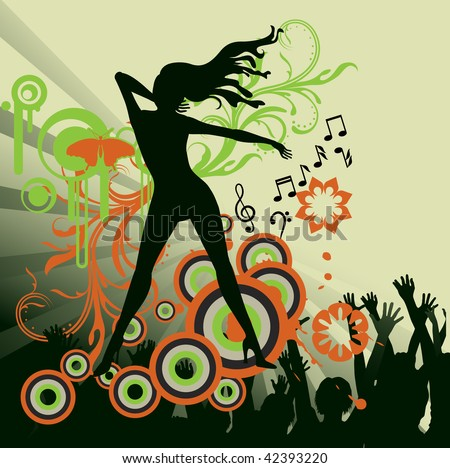stock vector : abstract dance party poster