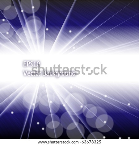 Abstract dark blue background, EPS10 vector - stock vector