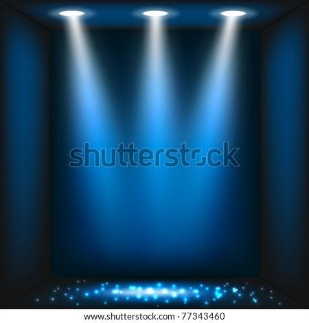 Abstract dark blue background. Vector eps10 illustration