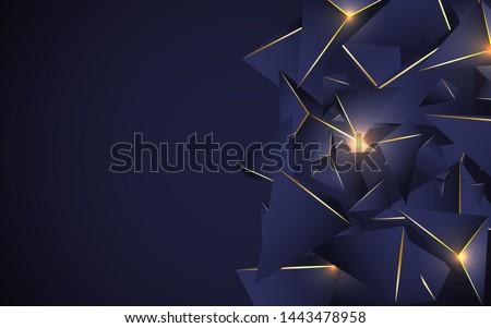 abstract dark blue polygonal