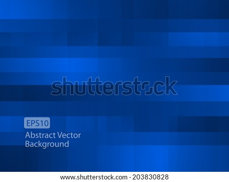 Abstract dark blue random pixel background - Shutterstock ID 203830828