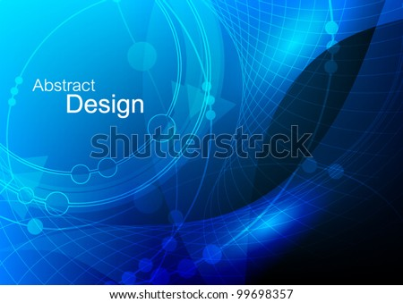 abstract dark blue technology background vector design