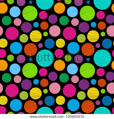 Abstract dark colorful seamless pattern.