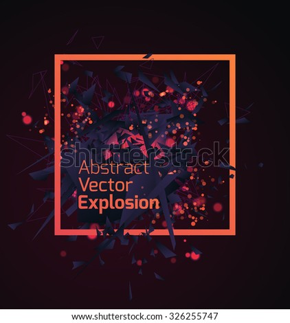 abstract dark explosion design