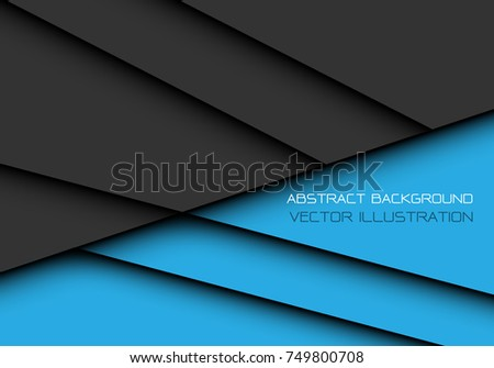 Abstract dark gray blue overlap design modern futuristic background vector illustration.