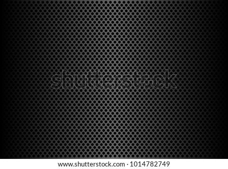 Abstract dark gray circle mesh pattern background texture vector illustration.