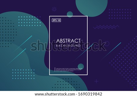 Abstract dark green gradient wavy geometric background modern with colorful style gradient color. landing page, cover page, Eps10 vector