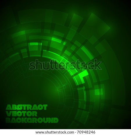 abstract dark green technical